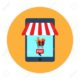 E-commerce and web store icon. Flat style vector illustration